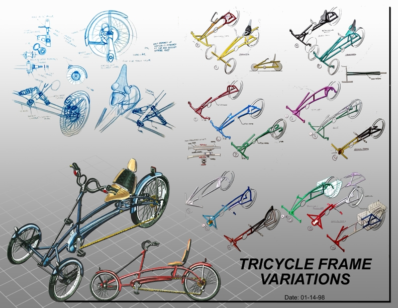 Tricycle frame variations